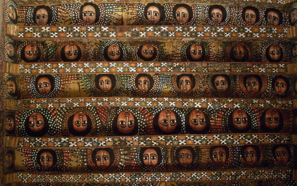 Human faces, Debre Birhan Selassie coptic Church